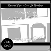 Rounded Square Card CU Template