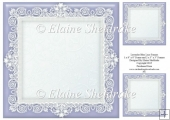 "Lavender Blue (1) Lace Frames - One 8"" x 8"" and Two 3"" x 3"""