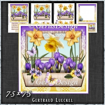 Flower Window Spring Daffodil Card Kit 1422