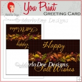 Fall Leaves Happy Fall Wishes Full Card & Card Front