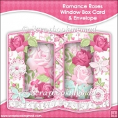 Romance Roses Double Window Box Card and Envelope