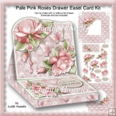 Pale Pink Roses Drawer Easel Card Kit