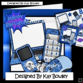 Blue Glitter Laptop, mobile & MP3 Player 8x8
