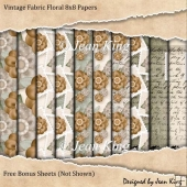Vintage Fabric Floral 8x8 Papers