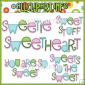 Sweet Stuff Fairy Hippos Commercial Use Word Art