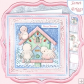 FAMILY BIRDHOUSE 7.5 Christmas Decoupage & Insert Card Kit