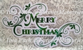 Swirly Layered Merry Christmas Topper, SVG,MTC, CRICUT, ScanNCut