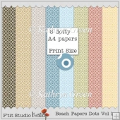 8 A4 Dotted Beach Colored Backing Papers