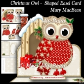 Christmas Owl Shaped Easel Card