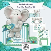 Age Is Irrelephant Over the Top 3D Birthday Card Kit