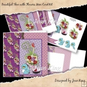 Beautiful Shoe with Flowers Mini Card Kit