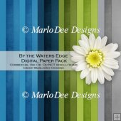 By the Waters Edge A4 size Card Stock Digital Papers