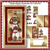 Three Happy Snowmen DL Card Kit