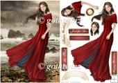 Lady Guinevere (Red) With Matching Insert