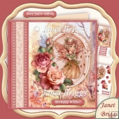 Autumn Fairy Birthday, Leaving, 8x8 Decoupage Kit