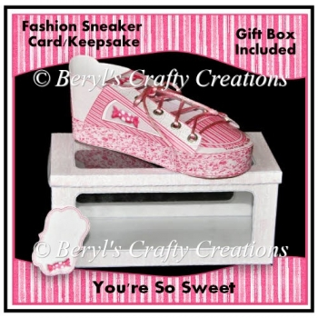 So Sweet - Fashion Sneaker Card/Keepsake