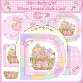 New Baby Girl Wrap Around Style Card