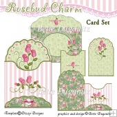 Rosebud Charm Card Set