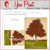 Fall Tree Happy Thanksgiving Full Card & Card Front