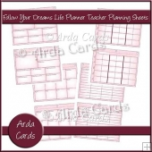 Follow Your Dreams Life Planner Teacher Planning Sheets