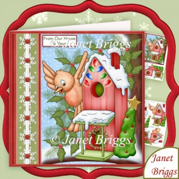 From Our House to Yours Christmas 7.5 Decoupage Kit