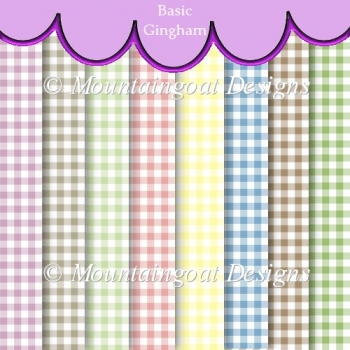 Basic Gingham Backing Papers