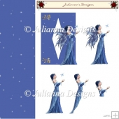 Sparkling Blue Fairy 3d Decoupage