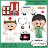 Ouch! Hospital Doctor Get Well Clipart CU4CU CU PU