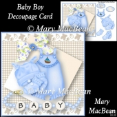 Baby Boy Decoupage Card Front
