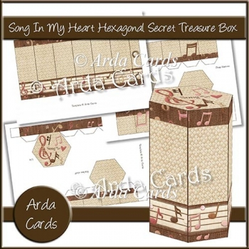 Song In My Heart Hexagonal Secret Treasure Box