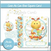 Cute As Can Bee Square Card