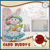Bunny Girl Shaped Fold Card Kit