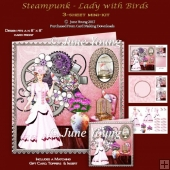 Steampunk - Lady & Birds