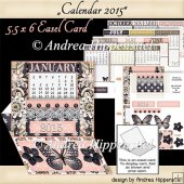 Easel Card with Box for Calendar tags 2015