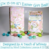 Six 15 cm Easter Gift Bags