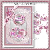 Girly Things Card Front