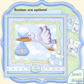 Baby Boy Special Delivery Stork 8x8 Decoupage Kit