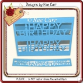 277 Happy Birthday Card *Multiple MACHINE Formats*
