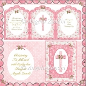 TRI-FOLD CHRISTENING CARD WITH DISPLAY BOX