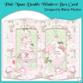 Pink Xmas Double Window Box Card