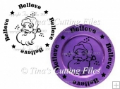 Believe Santa Christmas Great For Vinyl N Charger Plates