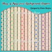 Hug A Mug 12x12 Background Papers