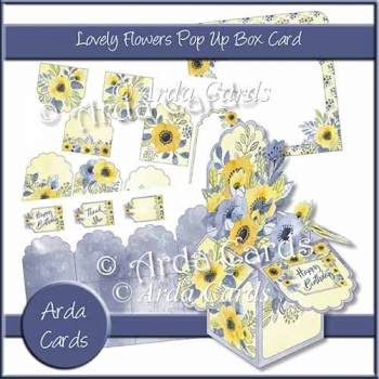 Lovely Flowers Pop Up Box Card
