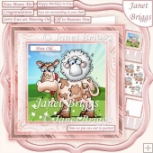 EWE MOOVE ME 7.5 Humorous Decoupage Card Kit