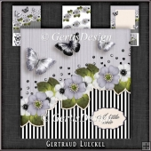 Vintage Stripes and Flowers Card Kit 1103