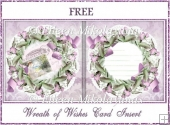 Wreath of Wishes Card Insert