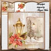 Lamplight card with decoupage and sentiment tags
