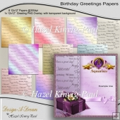 Birthday Greetings Papers
