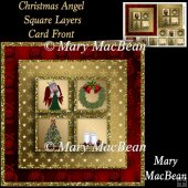 Christmas Angel Square Layers Card Front