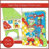 Super Boy Scalloped Pocket Card